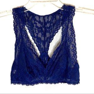 Victoria's Secret Blue Lace Racerback Bralette